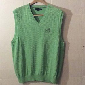 Tommy Hilfiger green man sweater vest # XL